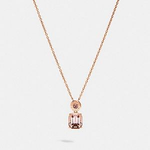 Coach peach/rose gold 16 inch necklace